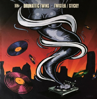 "Drumattic Twins ‎- Twister/Sticky (12"") (G-/G++)"